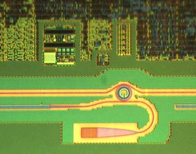 Фрагмент первого оптико-электронного процессора